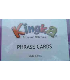 Kingka 3 Phrase Card Set (48 Cards with Teacher/Parent Manual)