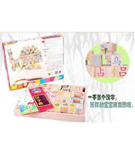 """Juego para niños """"Hanzi Dian"""" (Bloques de madera para aprender caracteres chinos) Edad 3+ años"""