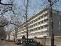 Un edificio nuevo de dormitorios colectivos de la Universidad de Pekín.