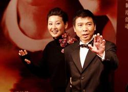 Director de cine chino Feng Xiaogang y su esposa Xu Fan