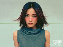 Wang Fei, una cantante muy famosa en China.