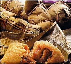 Zongzi, comida tradicional de la fiesta Duanwujie.