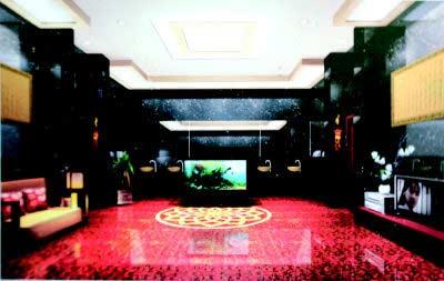 Baño de lujo en China.