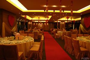 Una cena lujosa de una boda