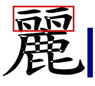 """El caracter tradicional """"li"""" significa guapo."""