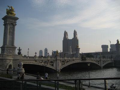 Un puente de la ciudad de Tianjin