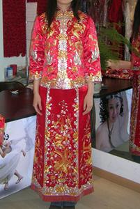 Un traje de novia tradicional de China