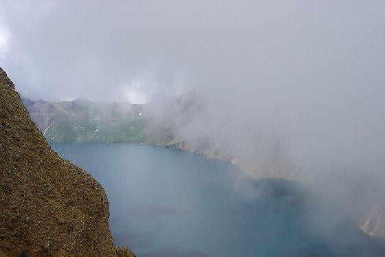 Lago paradisiaco de la Montaña Changbai en la región del Noreste de China.