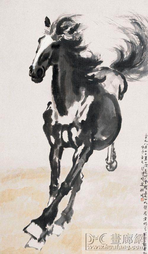 Cuadro de caballo por el pintor chino Xu Beihong