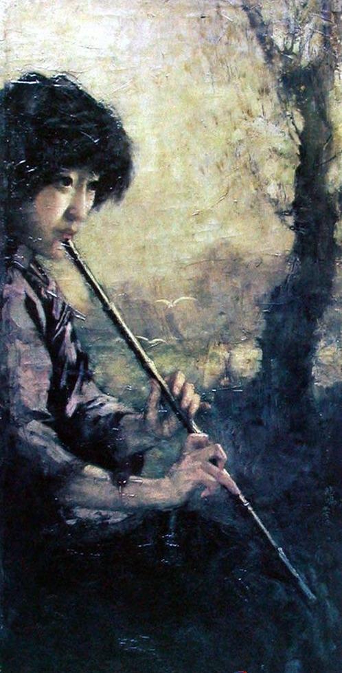 Retrado pintado por el pintor chino Xu Bei Hong